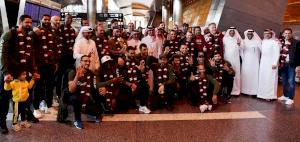 Team Qatar arrive to warm welcome