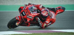 Bagnaia clinches season's first pole with new Qatar lap record