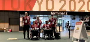 Team Qatar's Sara Masoud and Abdulrahman Abdulqader arrive in Tokyo for The Paralympic Games